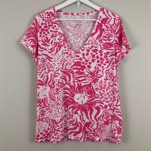 Lilly Pulitzer Michele V-Neck Get Spotted Tee